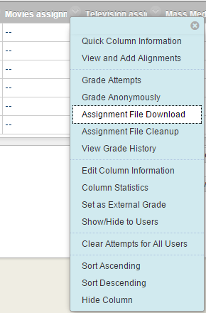 location of the assignment file download link