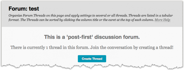 discussion forum post first student view