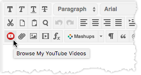"YouTube icon showing ""Browse My YouTube Videos"""