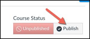 Canvas course publish button