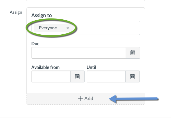 Assign To box with no exception added